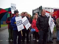 NUT members at Withins School and The Hayward School in Bolton have also been striking over academy plans.