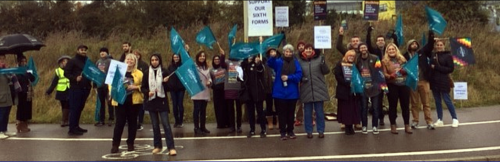 Pickets at Gateway Sixth Form College