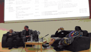 Gawain Little, Njoki Njehu, Alasdair Smith, Debby Pope on the panel